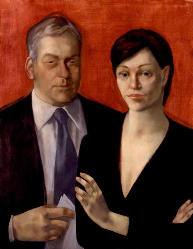 Conrad Moffat Black, Baron Black of Crossharbour; Barbara Amiel, by India-Jane Birley, 1999-2000 - NPG 6525 - © National Portrait Gallery, London