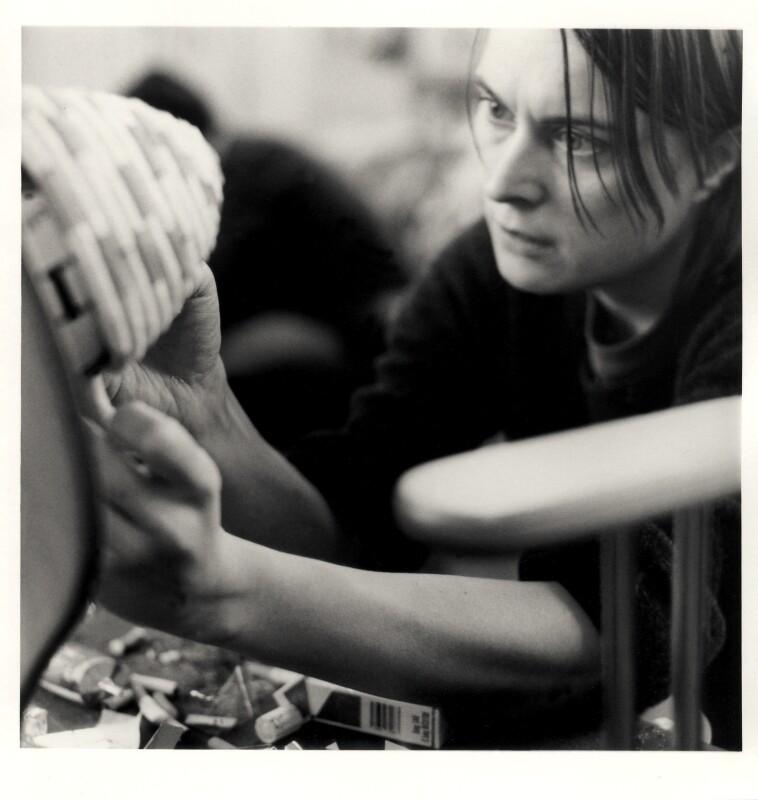 Sarah Lucas, by Johnnie Shand Kydd, 10 February 2000 - NPG x88366 - © Johnnie Shand Kydd