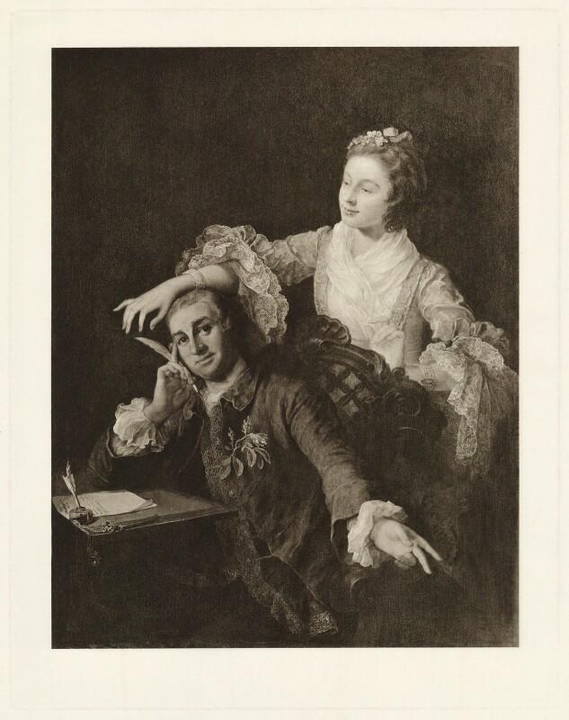 David Garrick; Eva Maria Garrick (née Veigel), after William Hogarth, (1757) - NPG D34379 - © National Portrait Gallery, London