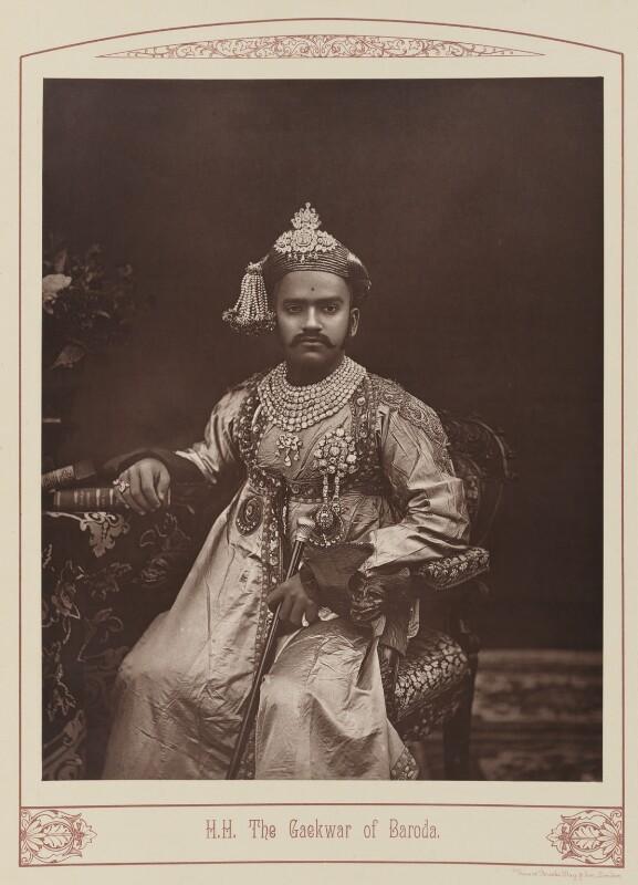 Sir Sayaji Rao III, Maharaja of Baroda, by Unknown photographer, published 1889 - NPG Ax28670 - © National Portrait Gallery, London