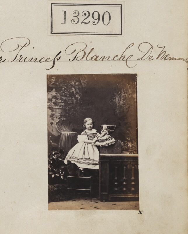 Princess Blanche d'Orléans, by Camille Silvy, 19 May 1863 - NPG Ax62923 - © National Portrait Gallery, London