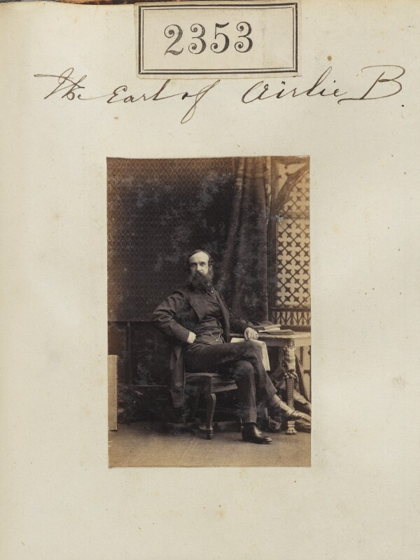 David Graham Drummond Ogilvy, 5th Earl of Airlie, by Camille Silvy, 6 March 1861 - NPG Ax51741 - © National Portrait Gallery, London