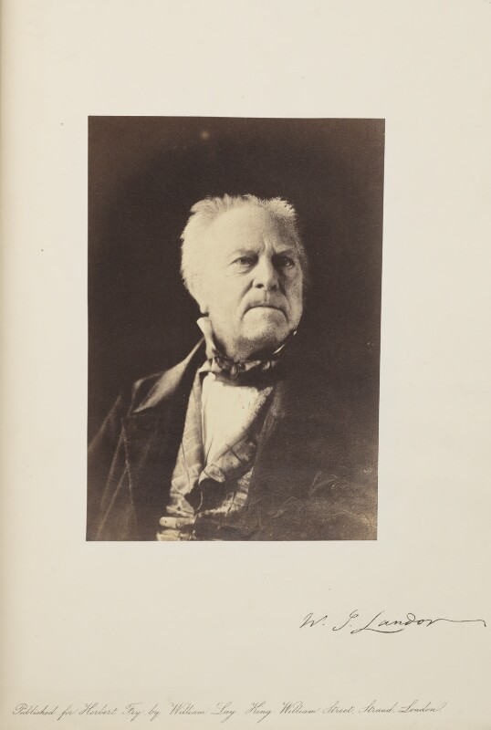 Walter Savage Landor, by Herbert Watkins, late 1850s - NPG Ax7918 - © National Portrait Gallery, London