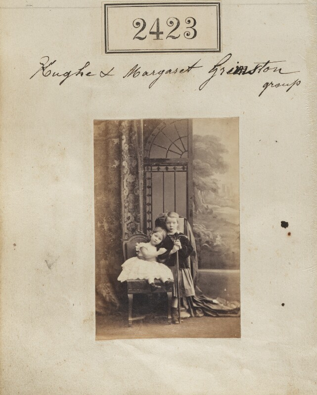 Margaret Katharine Alexander (née Grimston); Hugh Francis Grimston, by Camille Silvy, 9 March 1861 - NPG Ax51812 - © National Portrait Gallery, London