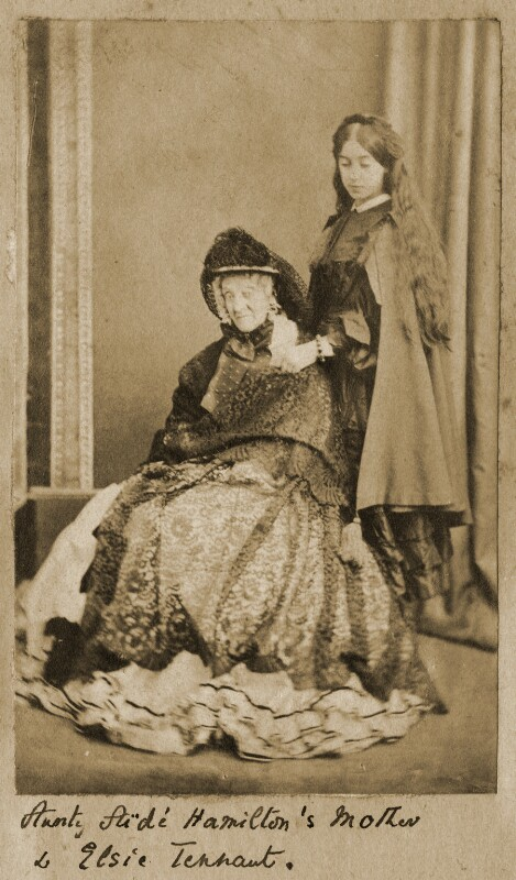 Georgina Aïdá (née Collier); (Alice) Elsie Tennant, by Unknown photographer, 1860s - NPG Ax68308 - © National Portrait Gallery, London