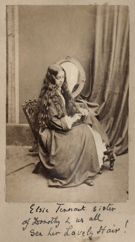 (Alice) Elsie Tennant, by Unknown photographer, 1860s - NPG Ax68339 - © National Portrait Gallery, London