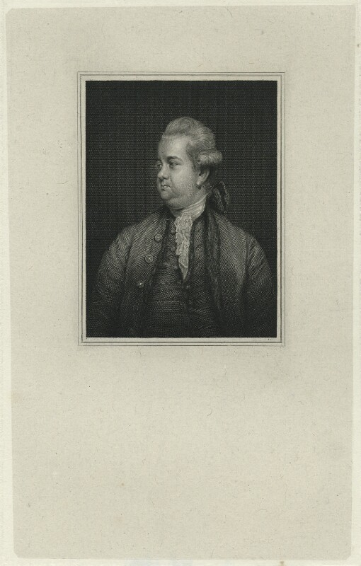 Edward Gibbon, after Sir Joshua Reynolds, (1779) - NPG D34449 - © National Portrait Gallery, London