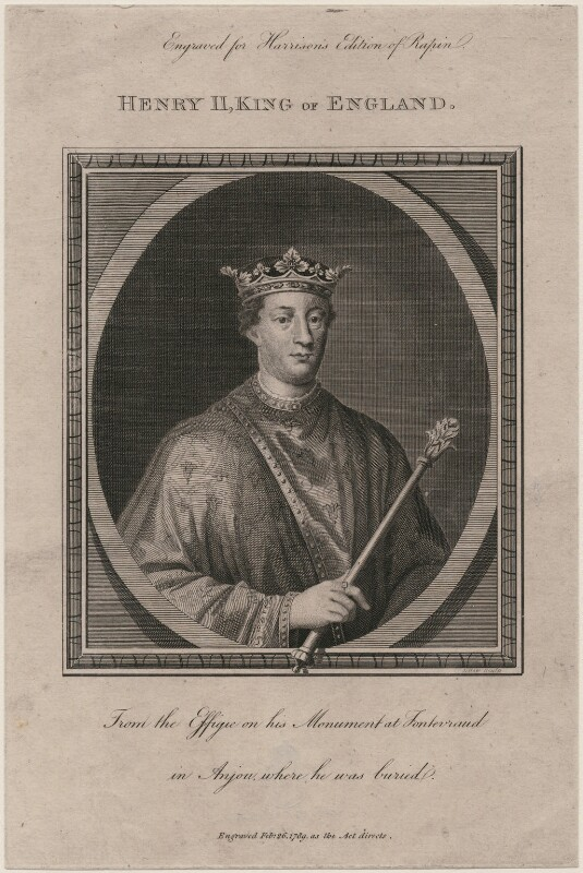 King Henry II, by L. How, after  Unknown artist, published 1789 - NPG D9379 - © National Portrait Gallery, London
