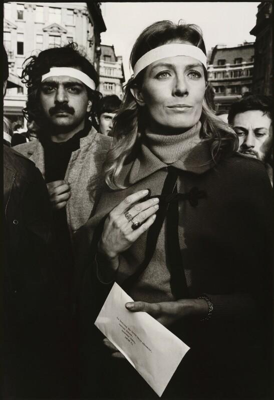 Tariq Ali; Vanessa Redgrave, by John Walmsley, 17 March 1968 - NPG x6394 - © John Walmsley