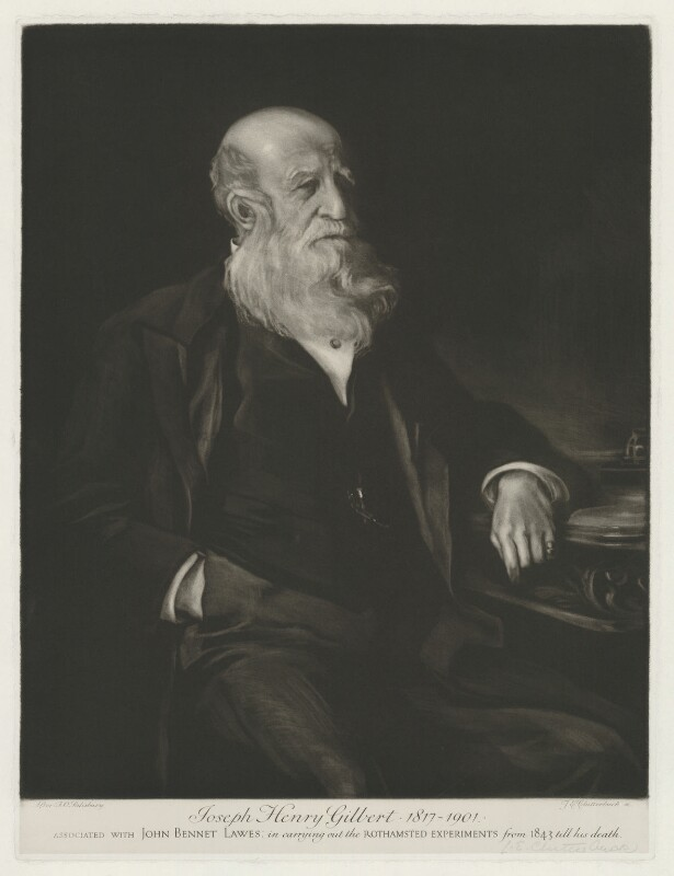 Sir Joseph Henry Gilbert, by Julia Emily Clutterbuck (Mrs Alsop), after  Frank Salisbury, after 1901 - NPG D34500 - © National Portrait Gallery, London