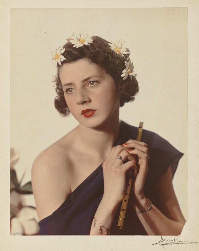 Mary Gwendoline (née Foster), Lady Forwood as Euterpe, by Madame Yevonde, 1935 - NPG x32990 - © Yevonde Portrait Archive