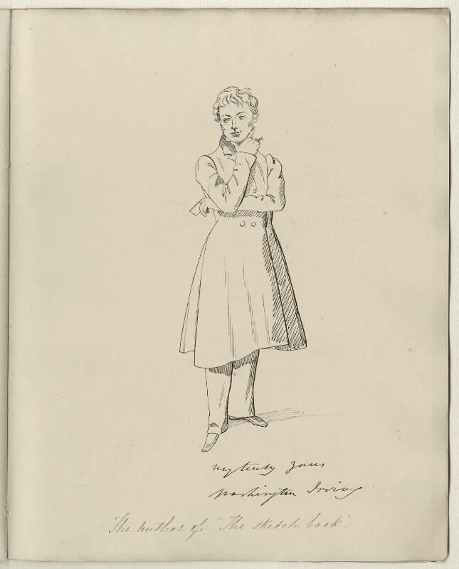 Washington Irving, after Daniel Maclise, (early 1830s) - NPG D34560 - © National Portrait Gallery, London