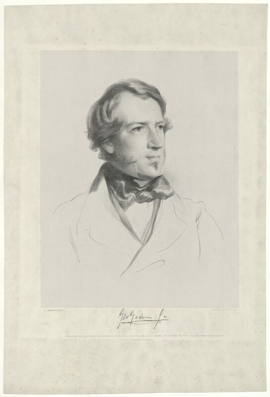 George Godwin, by Edward Morton, printed by  M & N Hanhart, published by  Paul and Dominic Colnaghi & Co, after  Samuel Laurence, published 25 April 1847 - NPG D34586 - © National Portrait Gallery, London