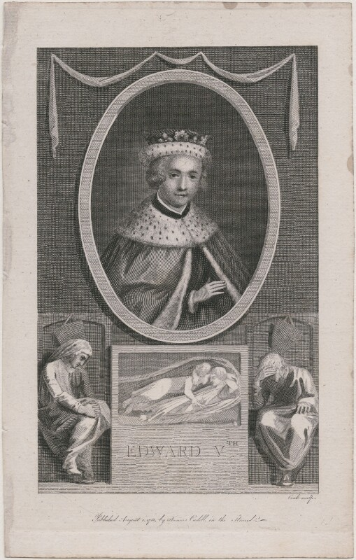 Possibly King Edward V, probably by Thomas Cook, after  Unknown artist, published 1788 - NPG D9399 - © National Portrait Gallery, London
