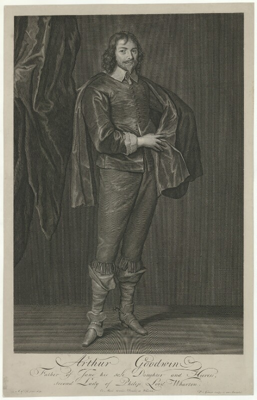Arthur Goodwin, by Pieter Stevens van Gunst, after  Sir Anthony van Dyck, early 18th century (1639) - NPG D34601 - © National Portrait Gallery, London