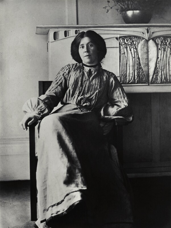 Margaret MacDonald Mackintosh, by James Craig Annan, circa 1901 - NPG x132519 - © National Portrait Gallery, London