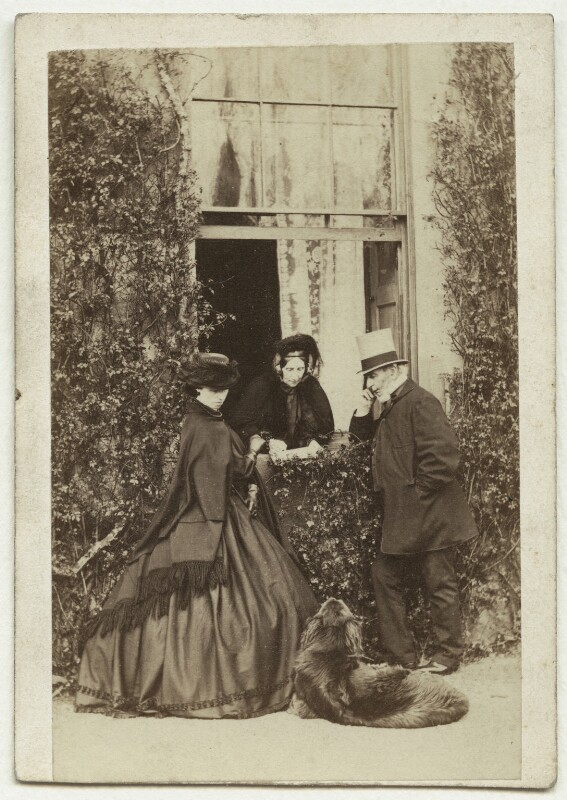 Wilhelmina Ingilby; Elizabeth (née Macdowall), Lady Ingilby; Sir Henry John Ingilby, 1st Bt, by Thomas & James Holroyd, mid 1860s - NPG x12123 - © National Portrait Gallery, London