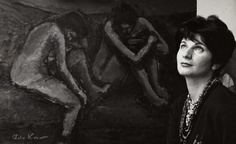 Myra Kupman, by Ida Kar, circa 1964 - NPG x132552 - © National Portrait Gallery, London