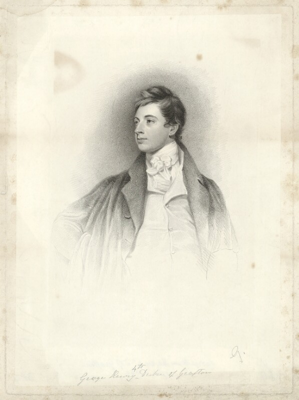 George Henry Fitzroy, 4th Duke of Grafton when Lord Euston, after George Romney, 1780s - NPG D34742 - © National Portrait Gallery, London