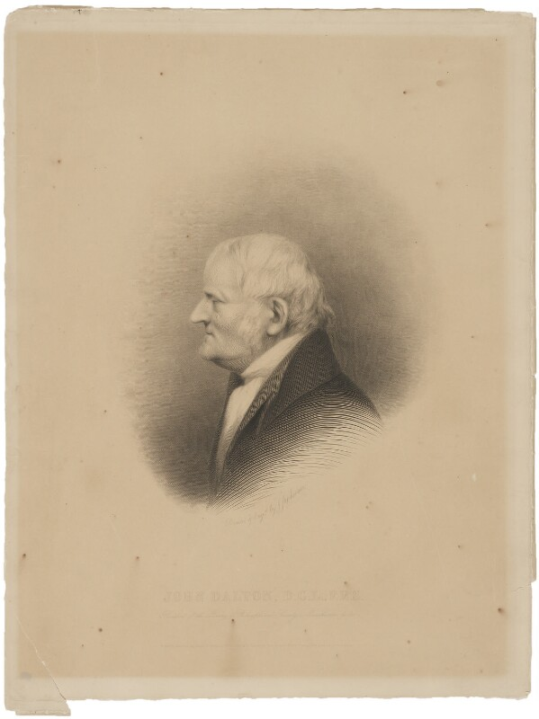 John Dalton, by and published by James Stephenson, published May 1845 - NPG D34671 - © National Portrait Gallery, London