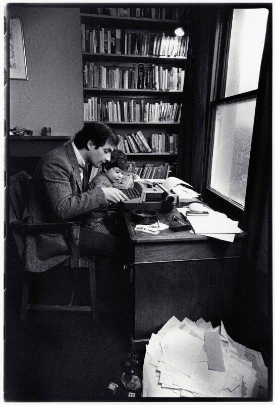 Salman Rushdie; Zafir Rushdie, by Judith Aronson, 1980 - NPG x132538 - © Judith Aronson / National Portrait Gallery, London