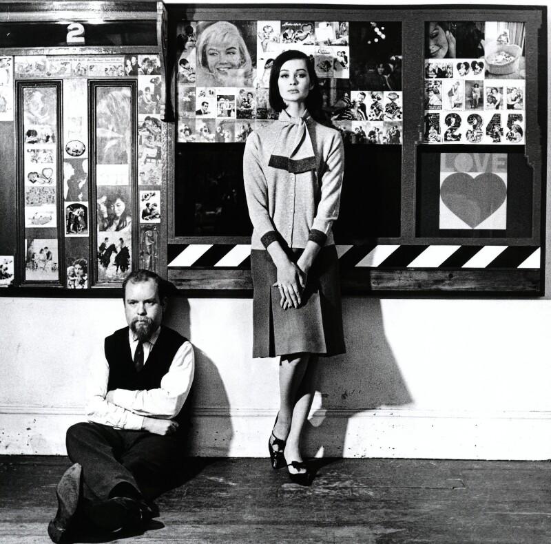 Peter Blake; Marie-Lise Gres (Volpeliere-Pierrot), by Elsbeth R. Juda, 1961 - NPG x132539 - © Elsbeth R. Juda / V&A Images