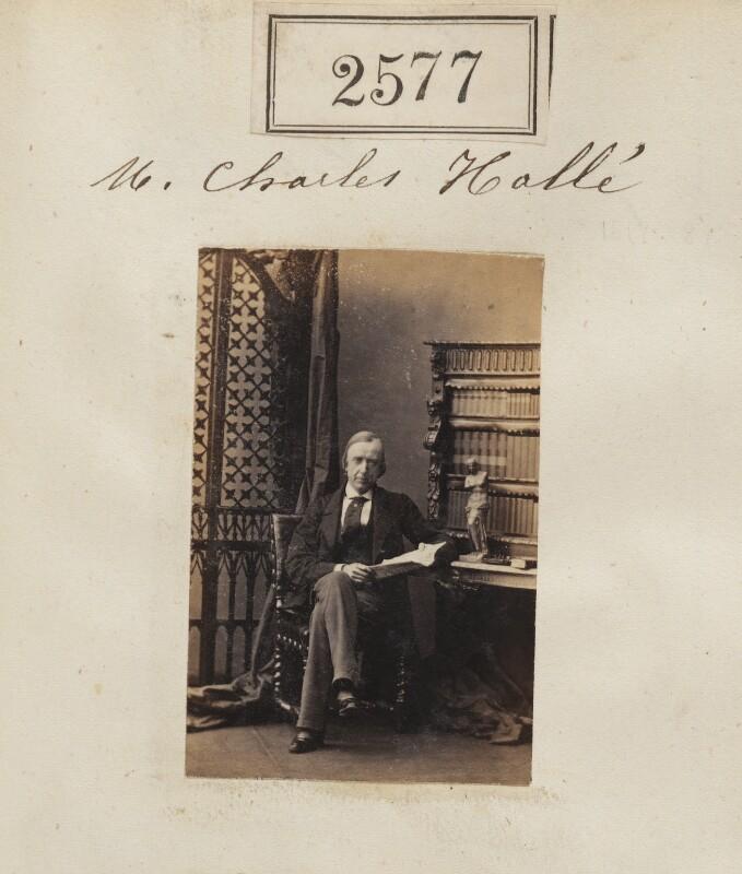 Sir Charles Hallé (né Carl Halle), by Camille Silvy, 17 March 1861 - NPG Ax51966 - © National Portrait Gallery, London