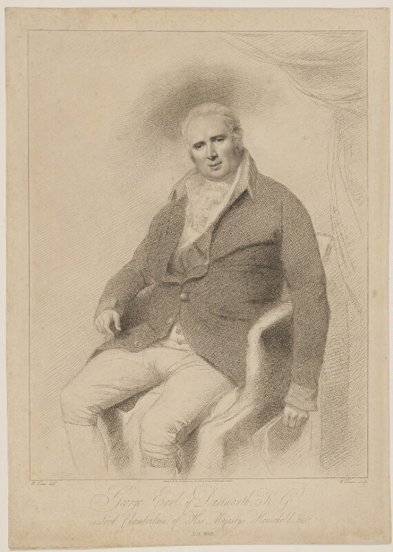 George Legge, 3rd Earl of Dartmouth, by William Evans, after and published by  William Lane, published 29 June 1808 - NPG D34684 - © National Portrait Gallery, London