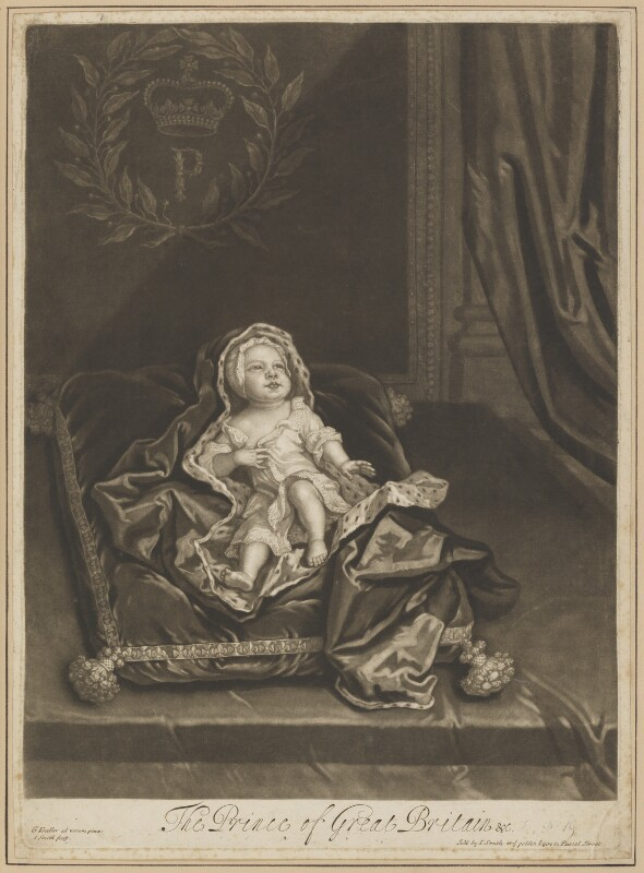 Prince James Francis Edward Stuart, by and published by John Smith, after  Sir Godfrey Kneller, Bt, 1688 - NPG D34714 - © National Portrait Gallery, London