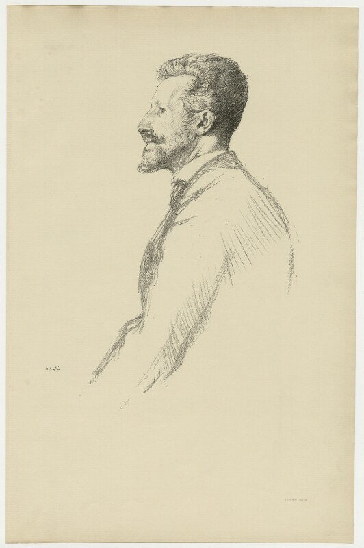 Robert Bontine Cunninghame Graham, by Thomas Robert Way, after  William Rothenstein, 1898 - NPG D34752 - © National Portrait Gallery, London
