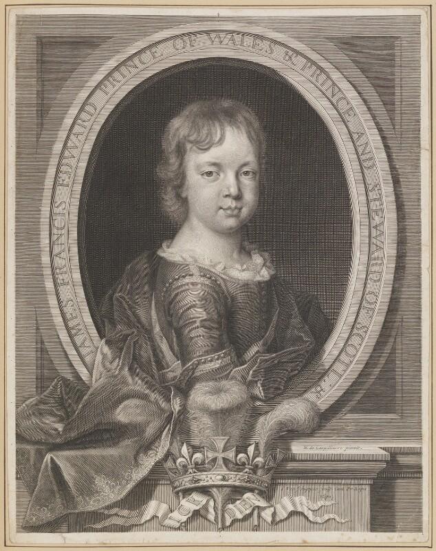 Prince James Francis Edward Stuart, by Pieter Louis van Schuppen, after  Nicolas de Largillière, 1692 - NPG D34717 - © National Portrait Gallery, London