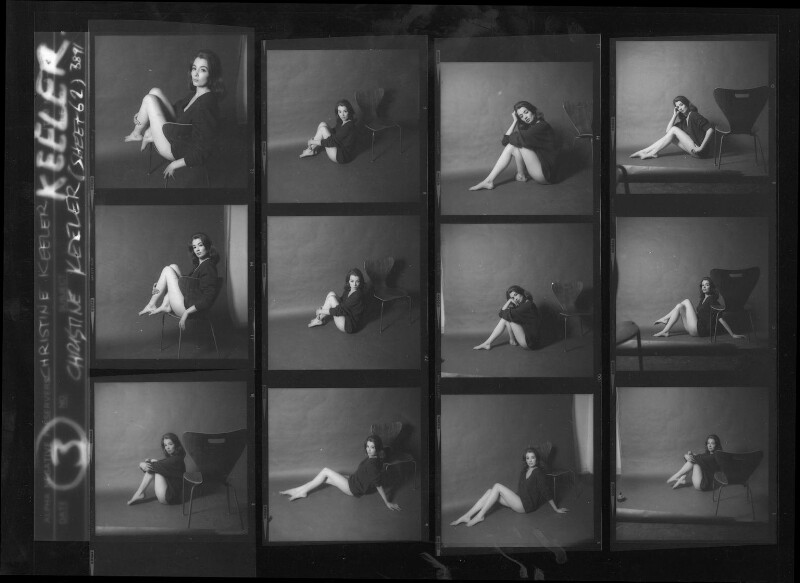 Christine Keeler, by Lewis Morley, June 1963 - NPG x38964 - © Lewis Morley Archive