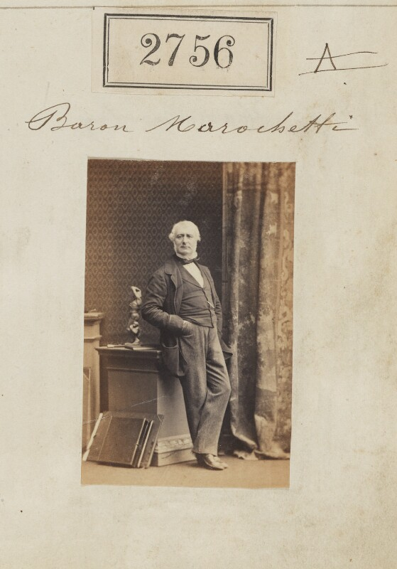 Carlo Marochetti, by Camille Silvy, 28 March 1861 - NPG Ax52145 - © National Portrait Gallery, London