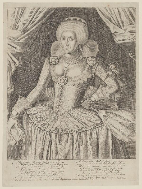 Anne of Denmark, after Unknown artist, after 1619 - NPG D9485 - © National Portrait Gallery, London