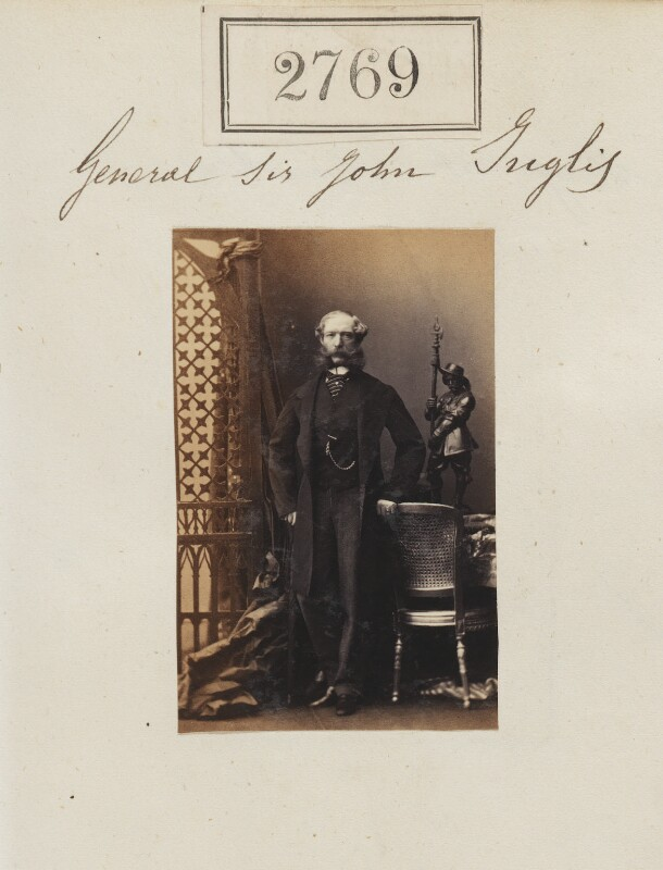 Sir John Eardley Wilmot Inglis, by Camille Silvy, 28 March 1861 - NPG Ax52158 - © National Portrait Gallery, London