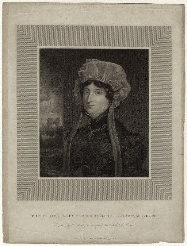 Lady Anne Margaret Grant of Grant, by William Read, published by  J. Grant, after  D. Alexander, published 1828 - NPG D34768 - © National Portrait Gallery, London