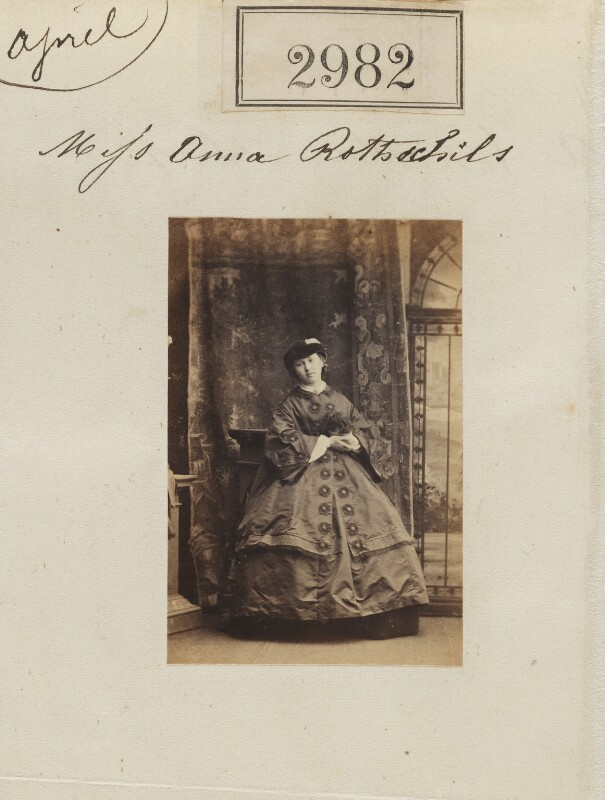 Annie Yorke (née de Rothschild), by Camille Silvy, 12 April 1861 - NPG Ax52380 - © National Portrait Gallery, London