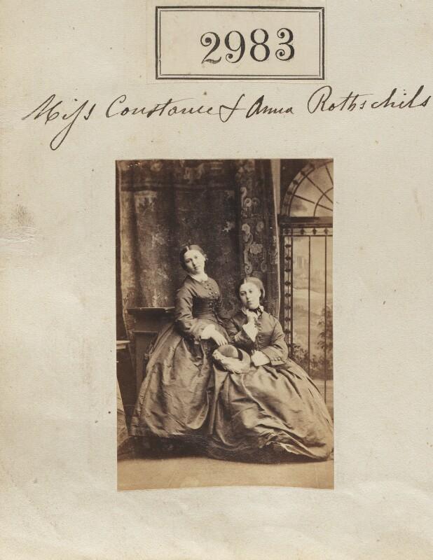 Annie Yorke (née de Rothschild); Constance Flower (née de Rothschild), Lady Battersea, by Camille Silvy, 12 April 1861 - NPG Ax52381 - © National Portrait Gallery, London