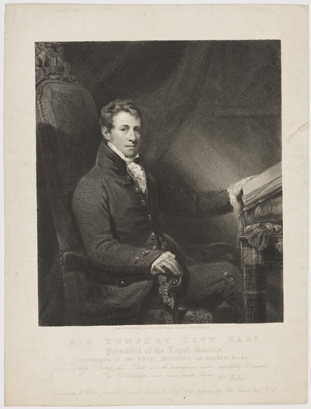 Sir Humphry Davy, Bt, by and published by William Walker, after  John Jackson, published 1 June 1830 (circa 1820) - NPG D34823 - © National Portrait Gallery, London