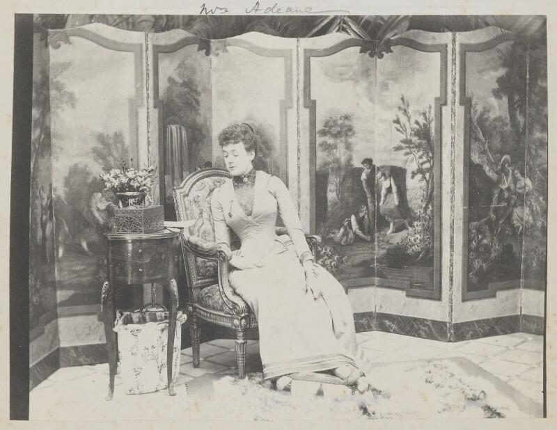 Madeline Pamela Constance Blanche Adeane (née Wyndham), by Cyril Flower, 1st Baron Battersea, 1890s - NPG Ax15694 - © National Portrait Gallery, London