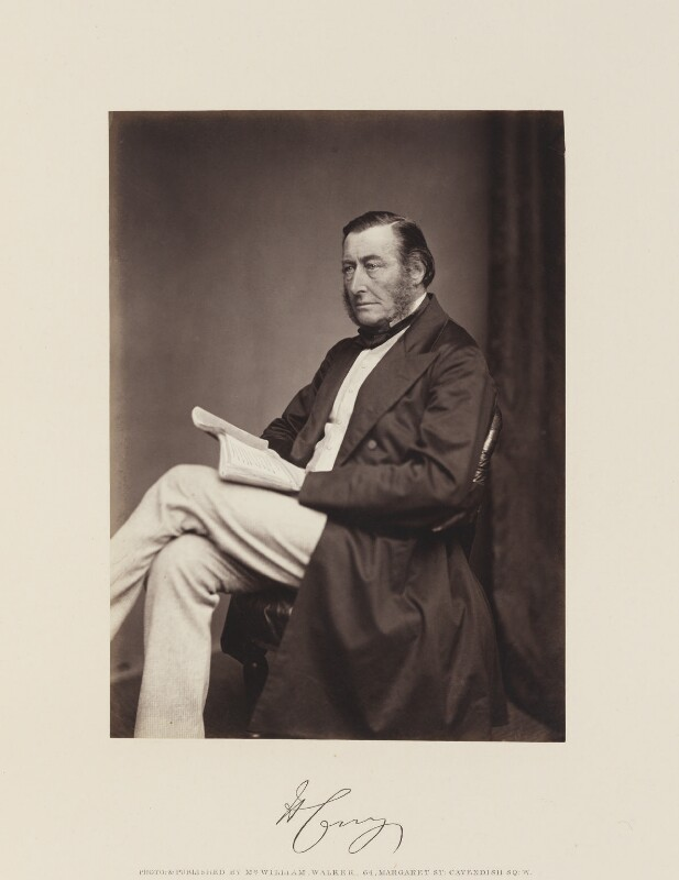 Henry Thomas Lowry Corry, by William Walker & Sons, circa 1867 - NPG Ax15852 - © National Portrait Gallery, London
