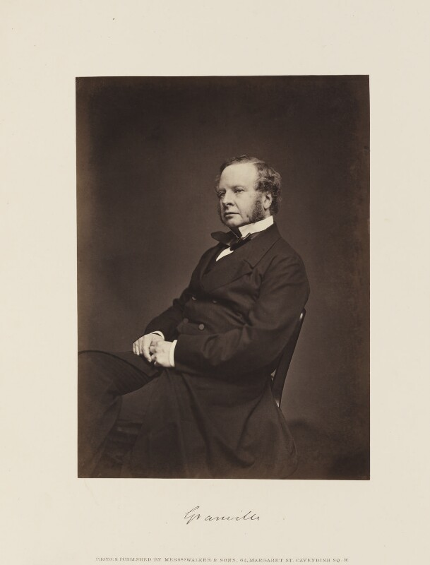 Granville George Leveson-Gower, 2nd Earl Granville, by William Walker & Sons, 1865 - NPG Ax15859 - © National Portrait Gallery, London