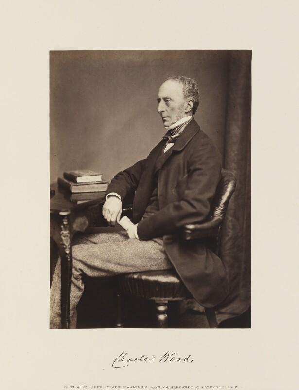 Charles Wood, 1st Viscount Halifax, by William Walker & Sons, circa 1865 - NPG Ax15865 - © National Portrait Gallery, London