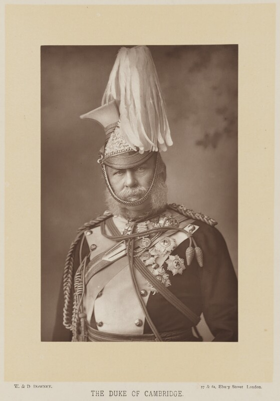 Prince George William Frederick Charles, 2nd Duke of Cambridge, by W. & D. Downey, published by  Cassell & Company, Ltd, published 1892 - NPG Ax16008 - © National Portrait Gallery, London