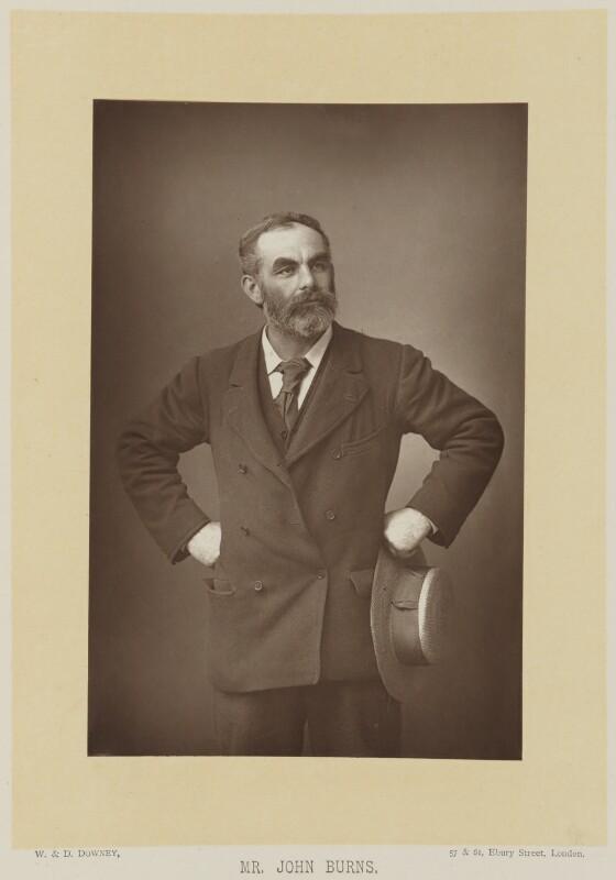 John Elliott Burns, by W. & D. Downey, published by  Cassell & Company, Ltd, published 1893 - NPG Ax16148 - © National Portrait Gallery, London