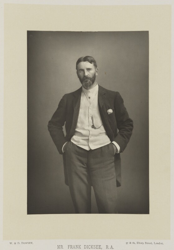 Frank Dicksee, by W. & D. Downey, published by  Cassell & Company, Ltd, published 1893 - NPG Ax16149 - © National Portrait Gallery, London