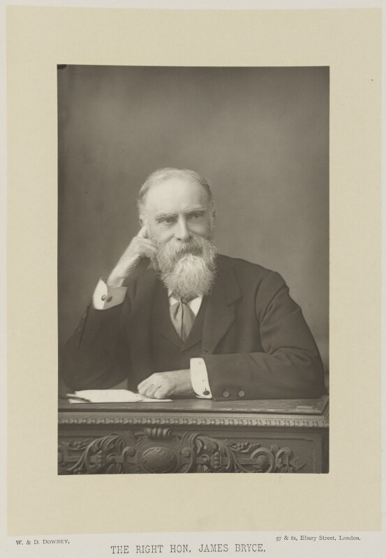James Bryce, 1st Viscount Bryce, by W. & D. Downey, published by  Cassell & Company, Ltd, published 1893 - NPG Ax16152 - © National Portrait Gallery, London