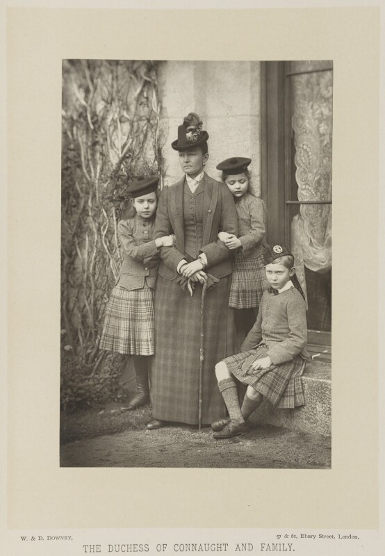 Princess Louise, Duchess of Connaught with her children, by W. & D. Downey, published by  Cassell & Company, Ltd, published 1893 - NPG Ax16162 - © National Portrait Gallery, London