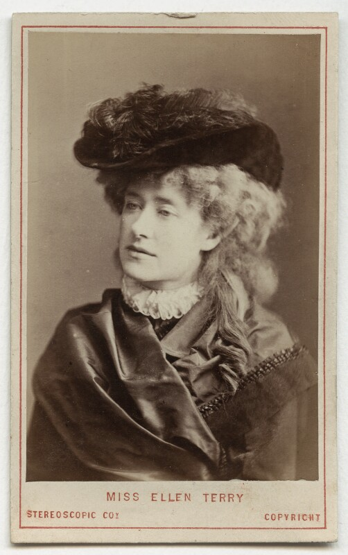 Ellen Terry as Philippa Chester in 'The Wandering Heir', by London Stereoscopic & Photographic Company, 1874 - NPG Ax18156 - © National Portrait Gallery, London