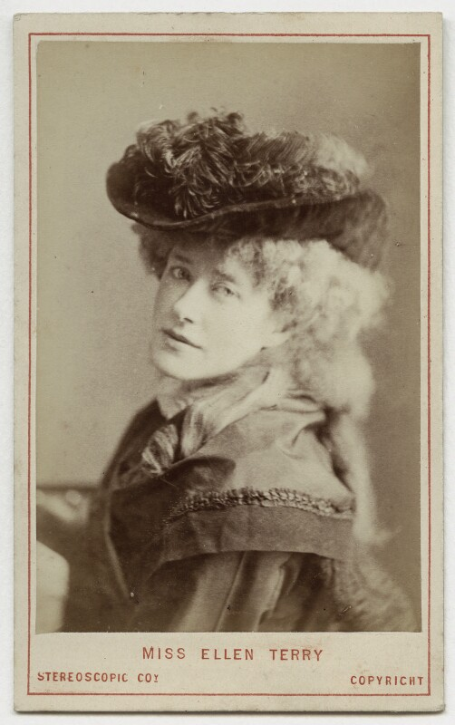 Ellen Terry as Philippa Chester in 'The Wandering Heir', by London Stereoscopic & Photographic Company, 1874 - NPG Ax18157 - © National Portrait Gallery, London